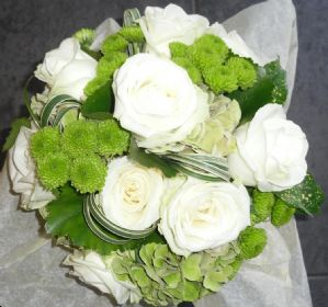 Brides Bouquet in Ivory and Sage